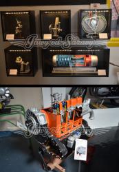 Tryskový motor a Motor v řezu - Robur